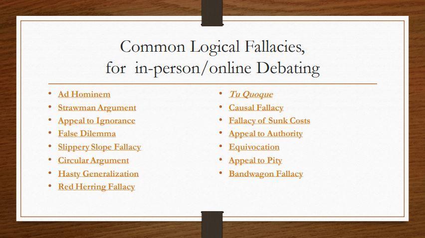 Label Logical Fallacies