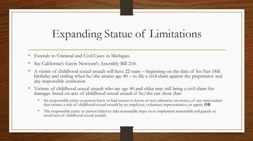 Extending Statue of Limitations