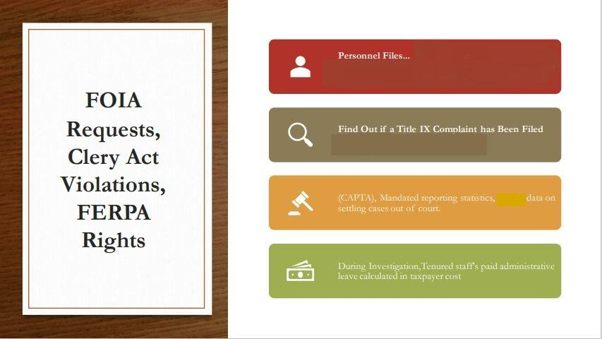 FOIA, Clery Act, FERPA