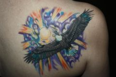 My Eagle tattoo on my right shoulder